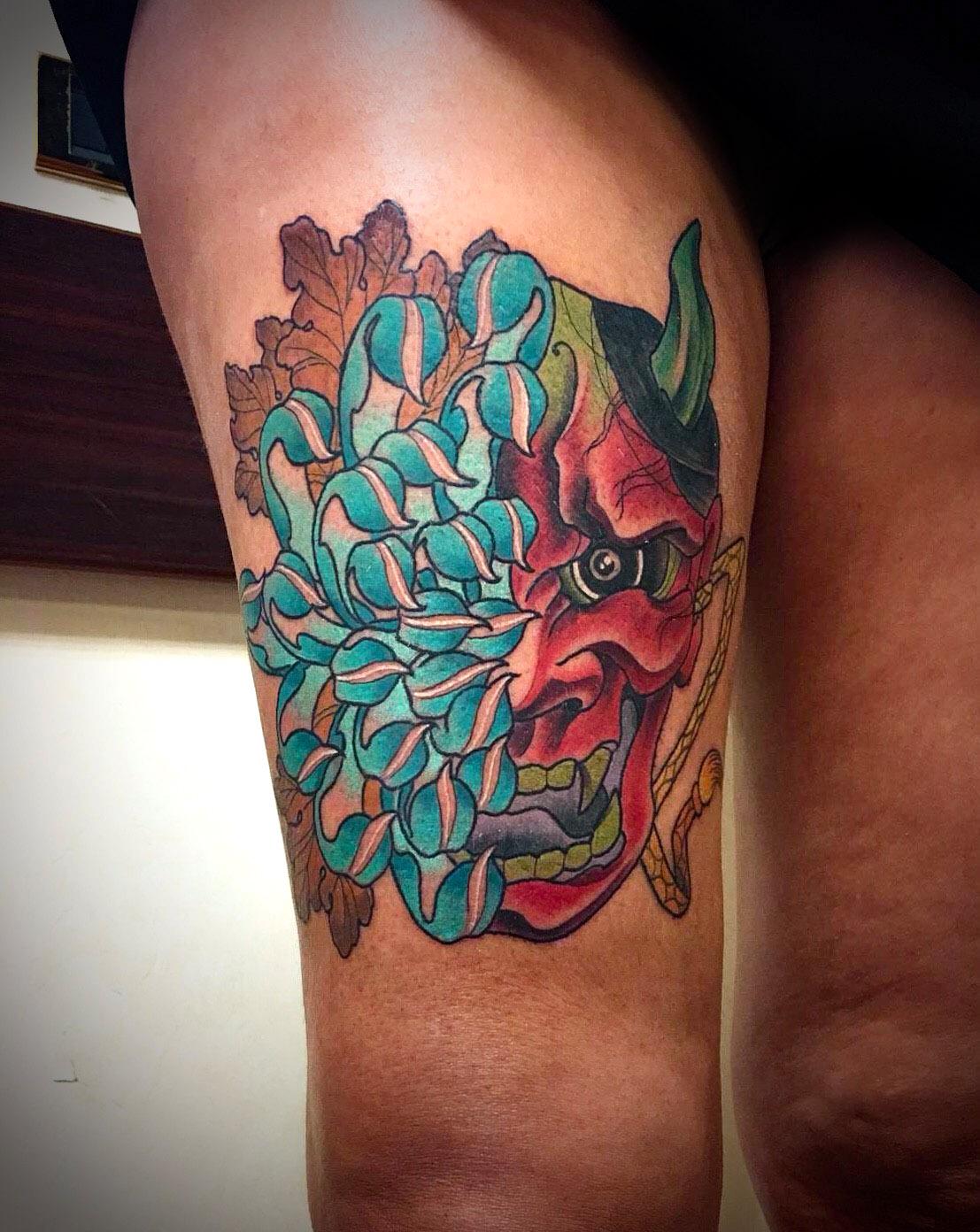 Tattoo gamba // Isa Mellone
